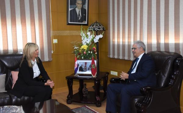 الأخ نزار بركة يستقبل السيدة ياسنا ميليتا سفيرة جمهورية كرواتيا المعتمدة بالمغرب