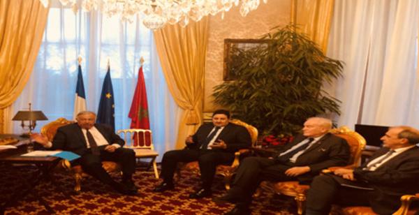 مباحثات السيد عبد الصمد قيوح الخليفة الاول لرئيس مجلس المستشارين مع السيد رئيس مجلس الشيوخ الفرنسي
