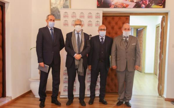 الأخ نزار بركة يستقبل السيد مولاي ابراهيم العثماني رئيس المجلس الإداري للتعاضدية العامة لموظفي الإدارات العمومية