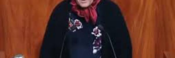 تدخل الأخت خديجة الزومي خلال الجلسة العامة السنوية التي تخصص لمناقشة وتقييم الاستراتيجية الوطنية للماء