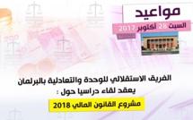 الفريق الاستقلالي بالبرلمان ينظم لقاء دراسيا حول مشروع القانون المالي لسنة 2018