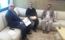 الأستاذ عبد السلام اللبار يستقبل رئيس الائتلاف الوطني من أجل اللغة العربية