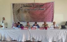 الأخ عبد اللطيف أبدوح  يترأس الجمع العام لتجديد فرع حزب الاستقلال  ببلدية العطاوية