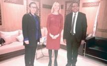 الأخ عمر عباسي يستقبل كريستين ميراي عضو القسم السياسي بالسفارة الأمريكية بالرباط
