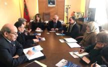 الأخ نورالدين مضيان يستقبل أعضاء الائتلاف المغربي من أجل المناخ والتنمية المستدامة