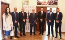 الأخ نزار بركة يستقبل السيد برونو كازوهيرو رئيس الاتحاد الدولي للشباب الديمقراطي