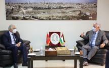 وفد استقلالي هام برئاسة الأخ نزار بركة في زيارة لسفارة دولة فلسطين لتأكيد الموقف المغربي الثابت والداعم للقضية الفلسطينية